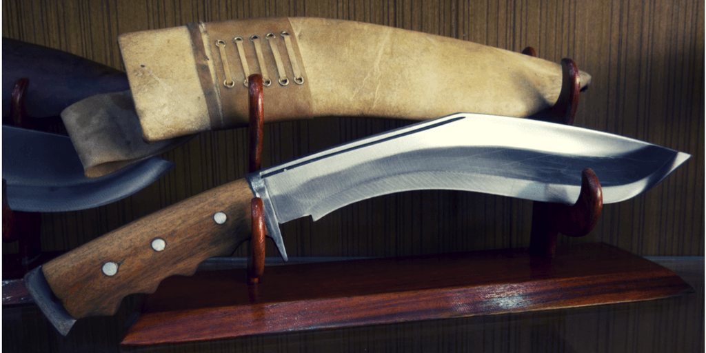 Traditional Kukri with sheath.